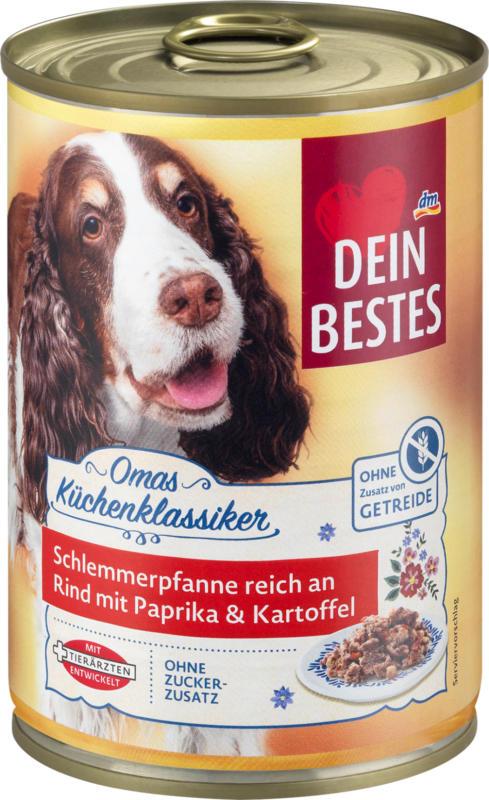 Dein Bestes Nassfutter für Hunde, Omas Küchenklassiker Schlemmerpfanne reich an Rind
