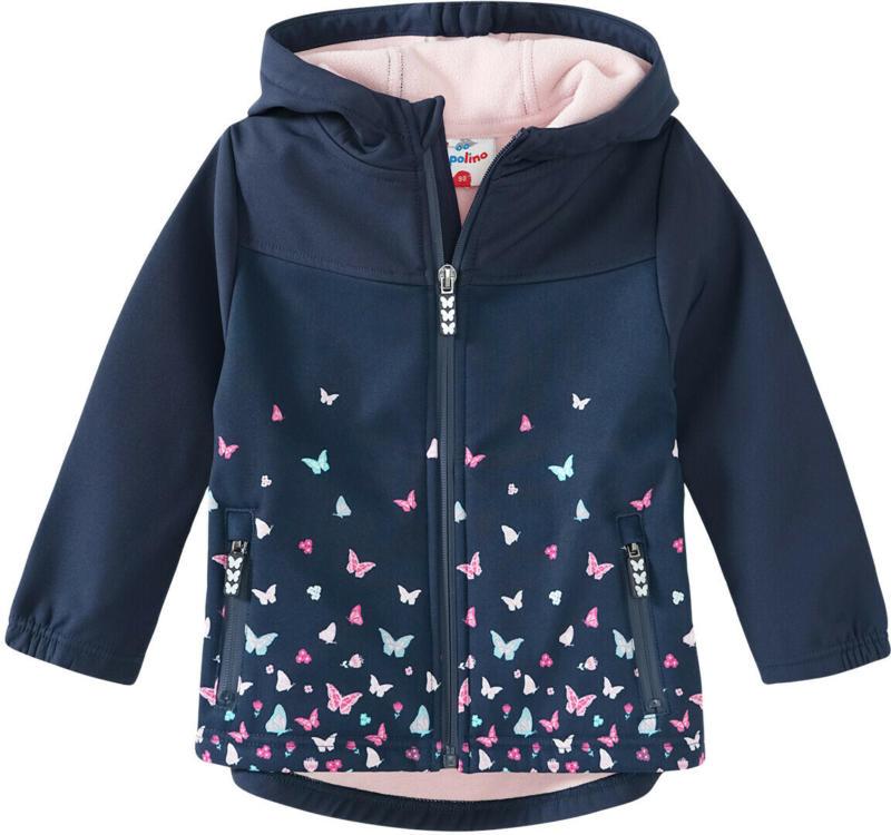Mädchen Softshelljacke mit Schmetterlingen (Nur online)