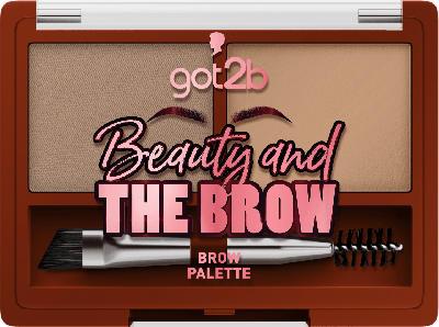 got2b Augenbrauenset Beauty and The Brow Palette Medium Brown