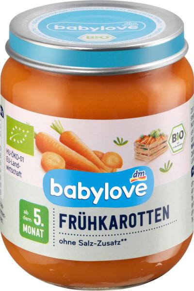 babylove Gemüse Früh-Karotten ab dem 5. Monat
