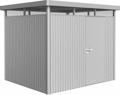 Biohort Metall-Gerätehaus HighLine H3 Silber 275 cm x 235 cm mit Einzeltür
