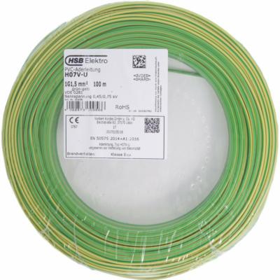 Aderleitung H07V-U 1,5 mm² Gelb-Grün 100 m