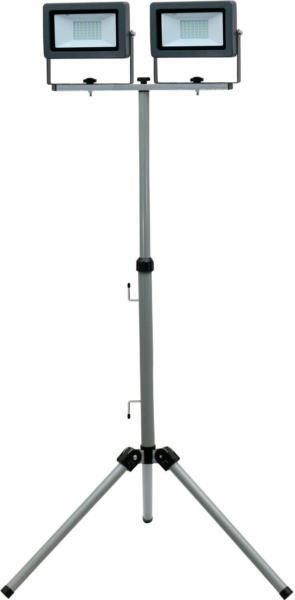 LED-Arbeitsleuchte Flare auf Stativ 2 x 30 W Silber-Anthrazit