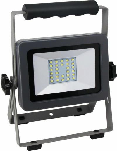 LED-Arbeitsleuchte Flare 20 W mit Ständer Silber-Anthrazit