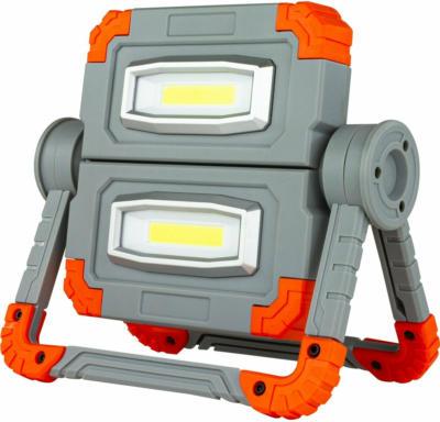 LED-Arbeitsleuchte Flex Power 10 W Akku mit Powerbank inkl. USB-Kabel Grau-Orang