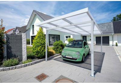 Carport Premium Anthrazit PC Stegplatte klar 309,4 cm x 562 cm