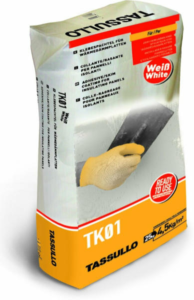 Tassullo Klebspachtel TK01 Weiß 25 kg