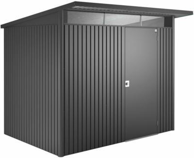 Biohort Gerätehaus AvantGarde Dunkelgrau-Metallic A5 260 x 220 cm mit Einzeltür