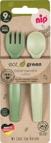 Nip Esslernbesteck eat green, grün