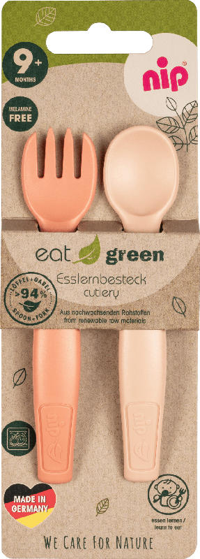 Nip Esslernbesteck eat green, orange