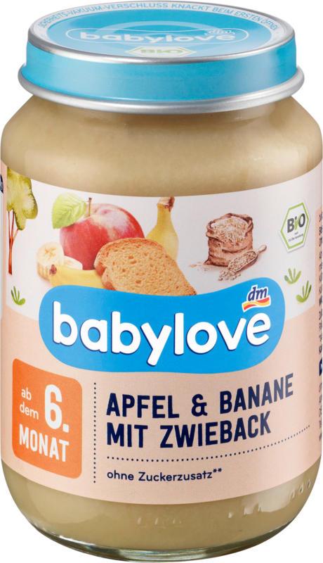 babylove Frucht und Getreide Apfel & Banane mit Zwieback ab dem 6.Monat