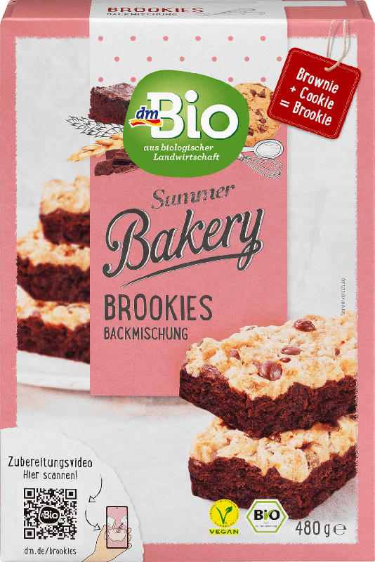 dmBio Backmischung Brookies (Brownie + Cookie)
