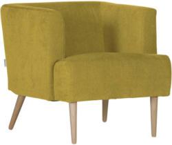 Sessel in Textil Gelb