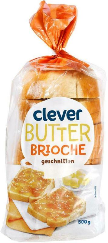 Clever Butterbrioche geschnitten
