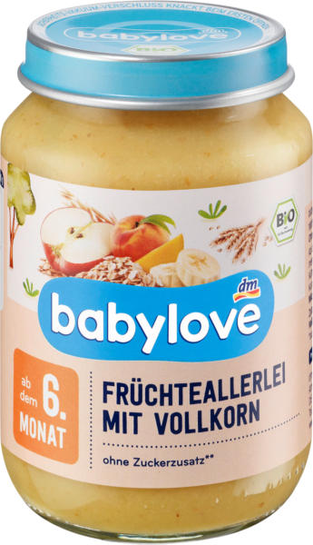 babylove Frucht und Getreide Früchteallerelei mit Vollkorn ab 6.Monat