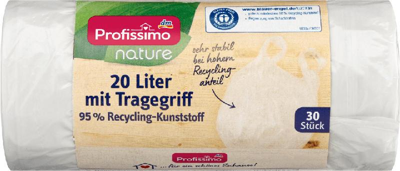 Profissimo nature Müllbeutel 20L  mit Tragegriff