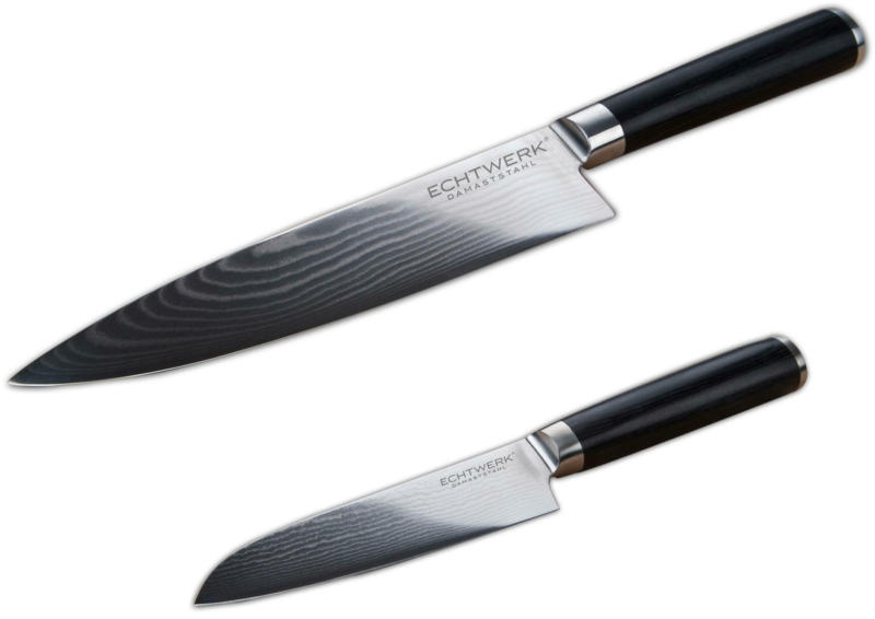 Messerset Damaszener aus 67-lagigem Damaststahl