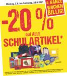 Maximarkt -20% auf alle Schulartikel - bis 28.08.2021