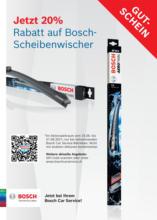 Bosch-Scheibenwischer Aktion: 20% Rabatt