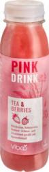 Pink Drink Hibiskustee, Kokoscreme, Himbeer-Erdbeer- und Litschigeschmack
