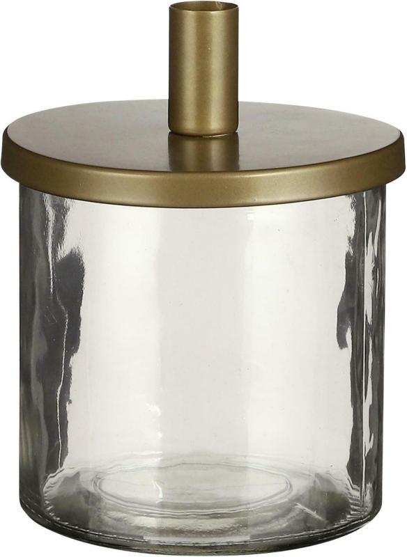 Kerzenhalter Elena aus Glas/Metall