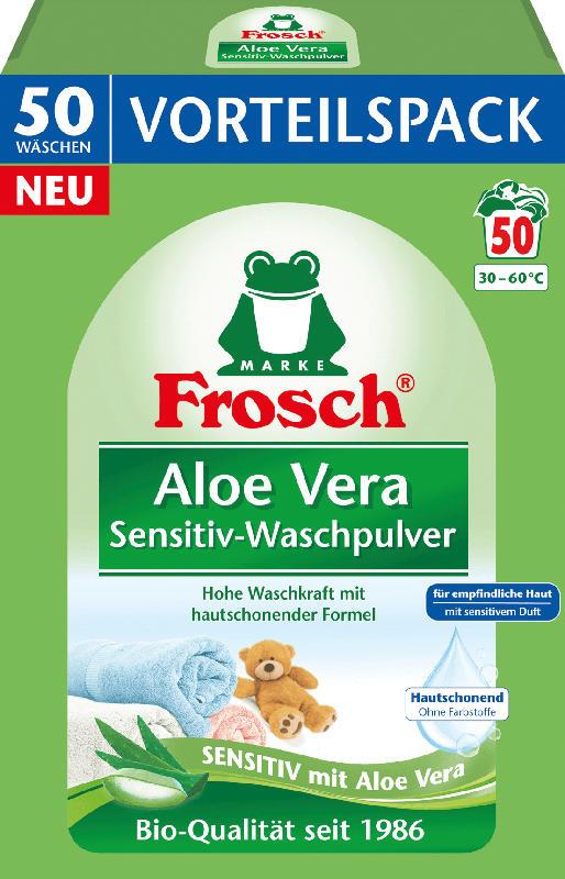 Frosch Waschmittel Pulver Sensitiv Aloe Vera