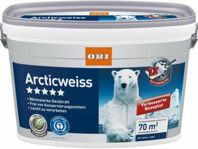 OBI Wandfarbe Arcticweiß matt 10 l