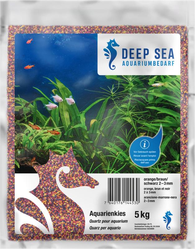 Deep Sea Aquariumkies orange-braun-schwarz, 5kg