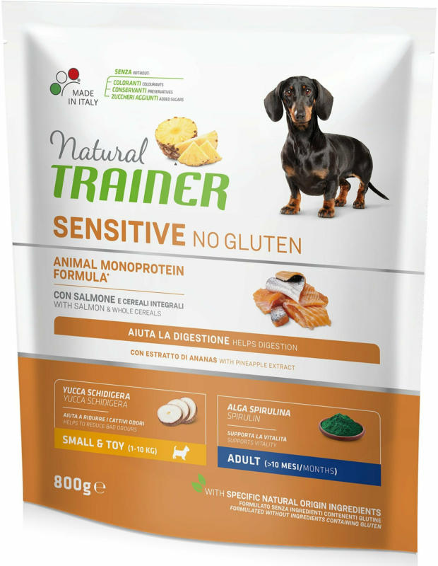 Trainer Nourriture pour chien Sensitive No Gluten Small & Toy Adult Saumon 800g
