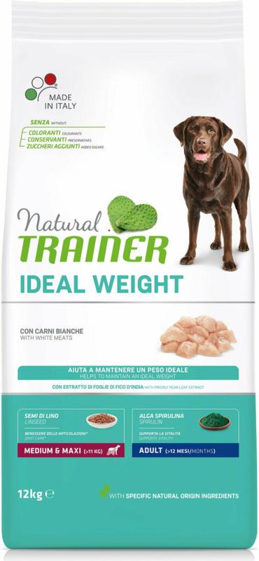 Trainer Nourriture pour chien Ideal Weight Medium & Maxi White Meat 12kg