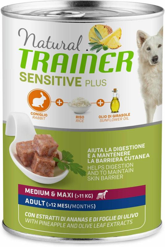 Trainer Nourriture pour chien Sensitive Plus Medium & Maxi Adult Lapin 400g