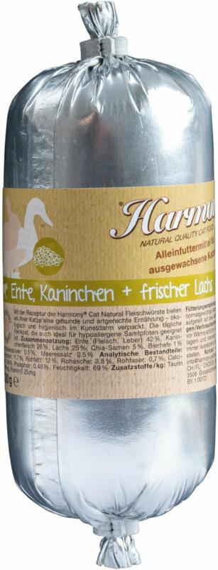 Harmony Cat Natural Fleischwurst Ente & Kaninchen 28x200g