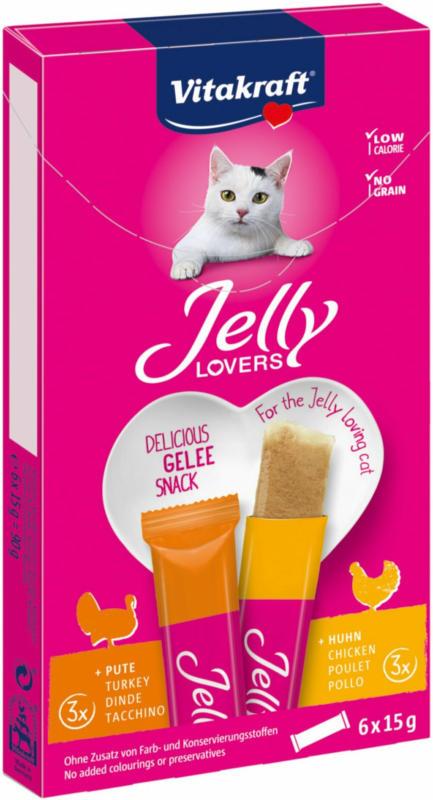 Vitakraft Snacks pour chats Vita Jelly Lovers poulet/dinde 6x15g