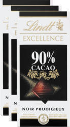 Lindt Excellence, 90% Cacao, Noir Prodigieux, 3 x 100 g