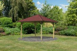 "Holzpavillon ""Cordoba"" Massivholz kdi, im Set mit Schindeln Dachschindeln"