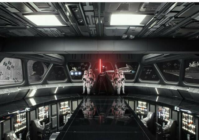 Fototapete Star-Wars Destroyer Deck ca. 368 x 254 cm
