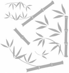 Fenstersticker Bambus ca. 31 x 31 cm
