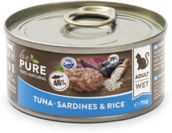 bePure Katzennassfutter Adult Thunf/Sardine & Reis 24x75g