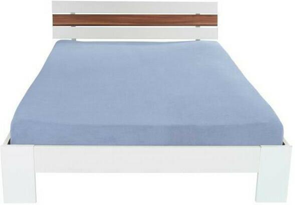 Baumwoll-Betttuch 200 x 250 cm blau