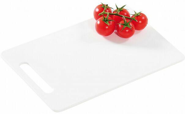 Schneidbrett Kunststoff weiß ca. 24x15cm