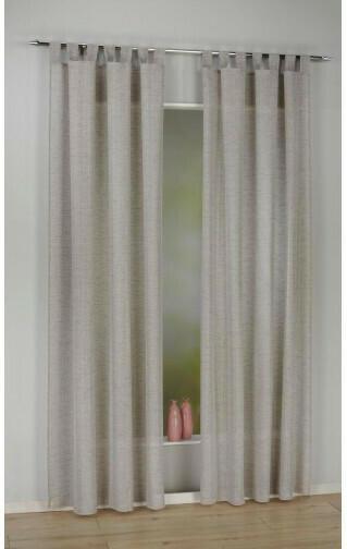 Kombivorhang Cordelia, hellgrau, ca. 140 x 245 cm