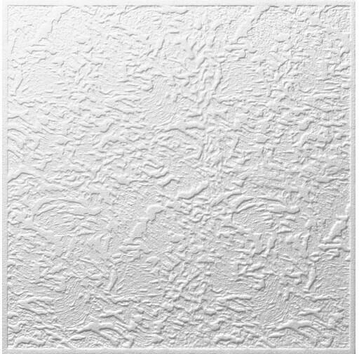 Styropor Deckenplatte Luxemburg ca. 50 x 50 cm weiß