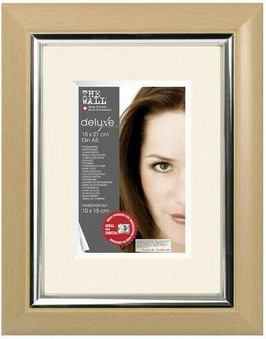 Bilderrahmen Kunststoff ca. 15x21cm Buche metallic-silber