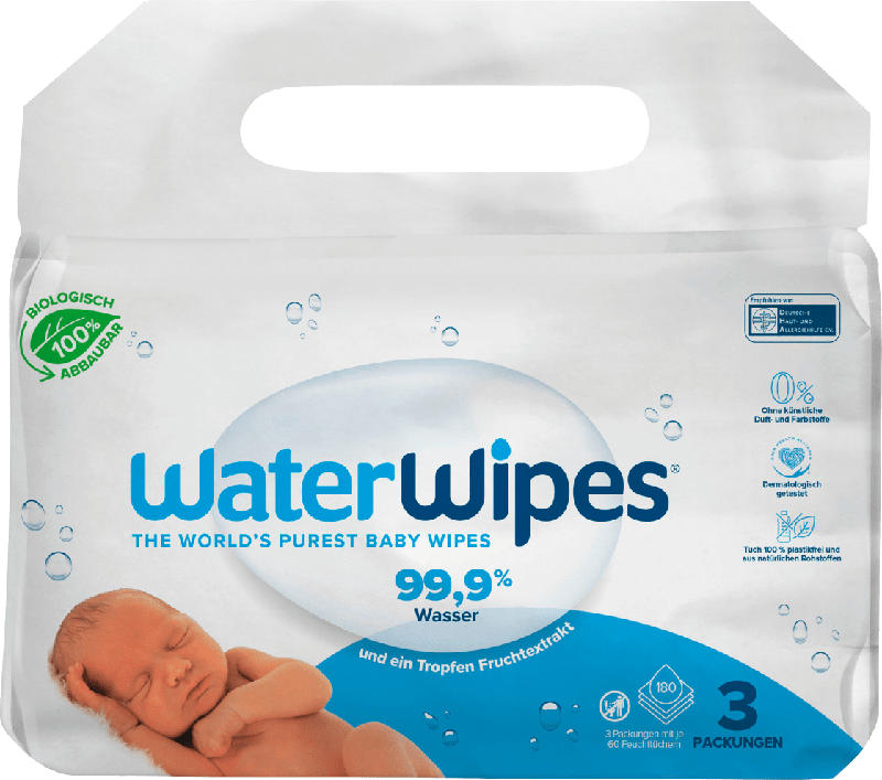 WaterWipes Feuchttücher 3x60St