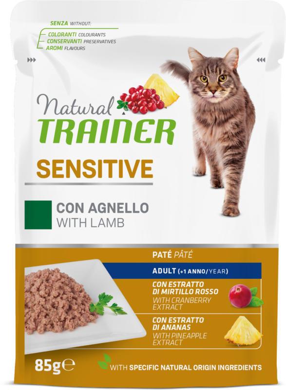 Trainer Natural Nourriture humide Sensitive Agneau 85g sachet