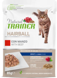 Trainer Natural Nassfutter Hairball Adult Rind 85g Beutel