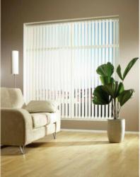Vertikallamellenvorhang, weiß, ca. 100 x 250 cm