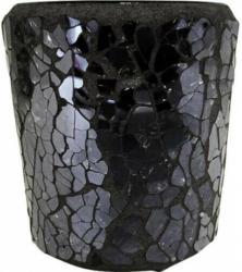 Mosaik-Teelichthalter ø ca. 6cm schwarz