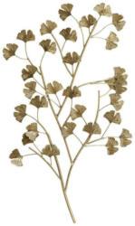 Wanddeko Ginkgo aus Eisen in Gold