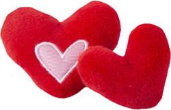 Rogz Jouet pour chats Catnip Hearts 2pcs rouge